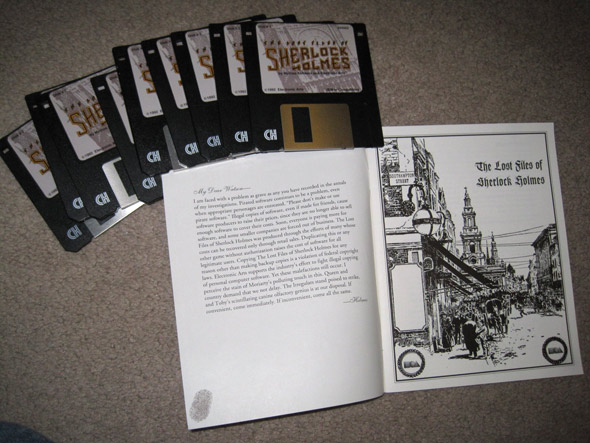 Floppy disks and a printed manual…