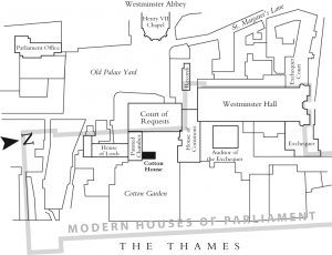 Map of Cotton House in historic Westminster (London)