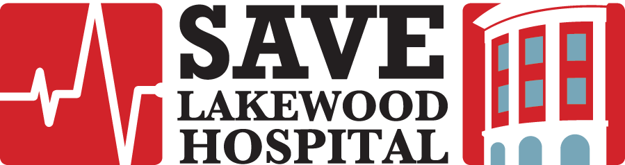 Logo for Save Lakewood Hospital; links to campaign site