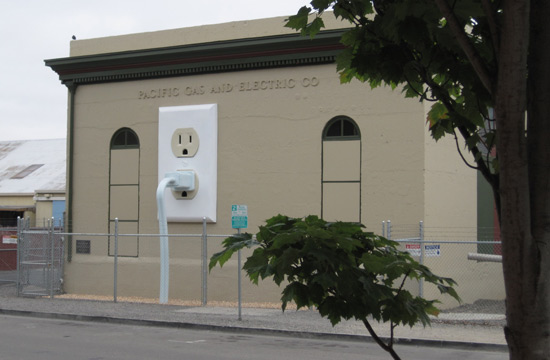 Giant-size electrical outlet in Petaluma