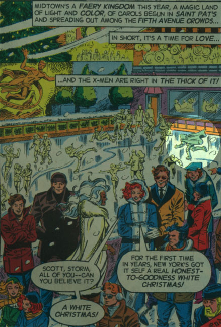 Last panel of X-Men story from 1991 Holiday Special