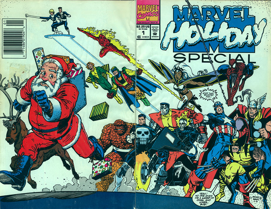 Cover of 1991 Marvel Holiday Special